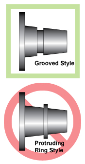 Diagram of different style hubs