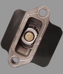 bottom view of thermostat housing